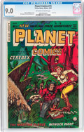 Golden Age (1938-1955):Science Fiction, Planet Comics #73 (Fiction House, 1953) CGC VF/NM 9.0 Off-white to white pages....