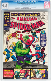 The Amazing Spider-Man Annual #3 (Marvel, 1966) CGC NM+ 9.6 Off-white to white pages