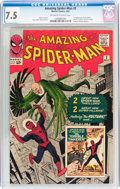 Silver Age (1956-1969):Superhero, The Amazing Spider-Man #2 (Marvel, 1963) CGC VF- 7.5 Off-white to white pages....