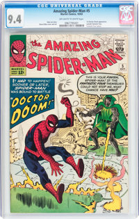 The Amazing Spider-Man #5 (Marvel, 1963) CGC NM 9.4 Off-white to white pages