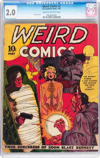 Weird Comics #2 (Fox Features Syndicate, 1940) CGC GD 2.0 Cream to off-white pages