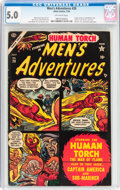 Golden Age (1938-1955):Adventure, Men's Adventures #28 (Atlas, 1954) CGC VG/FN 5.0 Off-white pages....