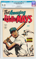 Golden Age (1938-1955):Non-Fiction, The Amazing Willie Mays #nn (Famous Funnies, 1954) CGC VF/NM 9.0 Off-white pages....