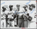 Baseball Collectibles:Photos, Neal, Aaron, Williams, Musial and Mays Multi Signed Photograph....