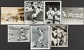 Baseball Collectibles:Photos, Baseball Greats Original Photographs Lot of 7 - One Signed by Yogi Berra....