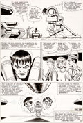 Original Comic Art:Panel Pages, Steve Ditko and George Roussos Tales to Astonish #61 Hulk Story Page 10 Original Art (Marvel, 1964)....