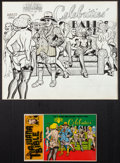 Original Comic Art:Covers, Spain Rodriguez The Tiajuana Bible Revival Volume Four:Celebrities' Ball Unpublished Cover Original A...