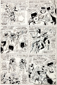 "Werner Roth (signing as Jay Gavin) and Dick Ayers X-Men #21 ""From Whence Comes...Dominus?"" Splash Page 13 Orig..."