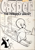 Original Comic Art:Covers, Casper the Friendly Ghost #8 Cover Original Art (Harvey,1953)....