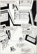 "Original Comic Art:Splash Pages, Werner Roth (signing as Jay Gavin) and Dick Ayers X-Men #21""From Whence Comes... Dominus?"" Splash Page 8 Original..."