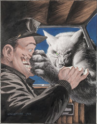 "Bernie Wrightson Heavy Metal Magazine V7#9 ""Cycle of the Werewolf"" Illustration Painting Original Art (HM Comm..."