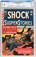 Golden Age (1938-1955):Horror, Shock SuspenStories #9 (EC, 1953) CGC NM 9.4 White pages....