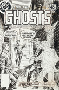 Original Comic Art:Covers, Luis Dominguez Ghosts #75 Cover Original Art (DC, 1979)....(Total: 3 Items)