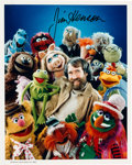 Movie/TV Memorabilia:Autographs and Signed Items, A Jim Henson Signed Color Photograph, Circa 1980....