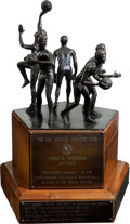 Basketball Collectibles:Others, The John R. Wooden Award Player of the Year Perpetual Trophy, 1977-84....