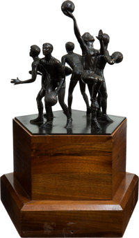 The John R Wooden Award Player Of The Year Perpetual Trophy Lot