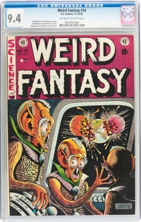 Weird Fantasy #16 (EC, 1952) CGC NM 9.4 Off-white to white pages