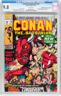 Conan the Barbarian #10 Don/Maggie Thompson Collection pedigree (Marvel, 1971) CGC NM/MT 9.8 White pages