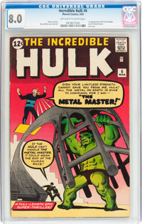The Incredible Hulk #6 (Marvel, 1963) CGC VF 8.0 Off-white to white pages