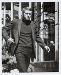 Movie/TV Memorabilia:Autographs and Signed Items, A Steve McQueen Signed Black and White Photograph, Circa 1970s....