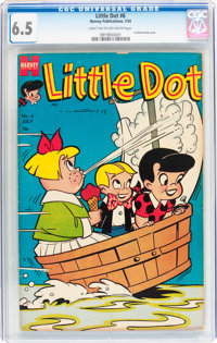 Little Dot #6 (Harvey, 1954) CGC FN+ 6.5 Light tan to off-white pages
