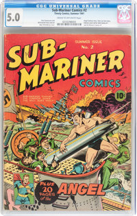 Sub-Mariner Comics #2 (Timely, 1941) CGC VG/FN 5.0 Cream to off-white pages