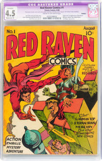 Red Raven Comics #1 (Timely, 1940) CGC Apparent VG+ 4.5 Moderate (P) Cream to off-white pages