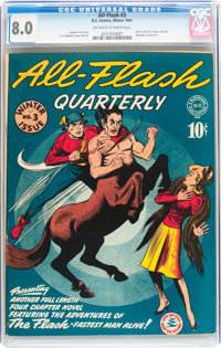 All-Flash #3 (DC, 1941) CGC VF 8.0 Off-white to white pages