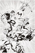 Original Comic Art:Splash Pages, Mark Bagley and Art Thibert Defenders: From the Marvel VaultSplash Page 1 Original Art (Marvel, 2011)....