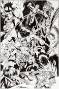 Original Comic Art:Splash Pages, Mark Bagley and Scott Hanna Ultimate Spider-Man #71 SplashPage 6 Original Art (Marvel, 2005)....