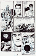 "Original Comic Art:Panel Pages, Steve Dillon Preacher #21 ""Stormbringers"" Page 23 OriginalArt (DC/Vertigo, 1997)...."