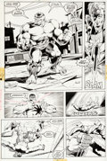 Original Comic Art:Panel Pages, Dale Keown and Bob McCloud The Incredible Hulk #374 Page 6Original Art (Marvel, 1990)....
