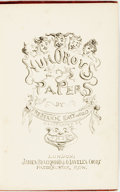 Books:Literature Pre-1900, Frederick Eastwood. Humorous Papers. London: James Blackwood& Co., 1877. Presentation copy, inscribed to Frederic...