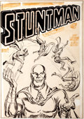 Original Comic Art:Covers, Joe Simon and Jack Kirby Stuntman #3 Unpublished CoverOriginal Art (Harvey, 1946)....