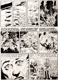 """Wally Wood Two-Fisted Tales #24 """"Bug Out!"""" Page 6 Original Art (EC, 1951)"""