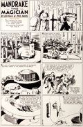 Original Comic Art:Comic Strip Art, Phil Davis Mandrake the Magician Sunday Comic Strip Original Art dated 7-10-38 (King Features Syndicate, 1938)....