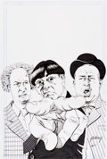 Original Comic Art:Covers, Paul Gulacy 3D Three Stooges #1 Cover Recreation(undated)....