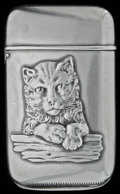 Silver Smalls:Match Safes, A HOWARD SILVER MATCH SAFE, Providence, Rhode Island, circa 1910.Marks: STERLING, (shamrock), 5430. 2-3/8 inches hi...