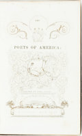 Books:Literature Pre-1900, John Keese, editor. The Poets of America: Illustrated by One ofHer Painters. New York: S. Colman, 1840. First editi...