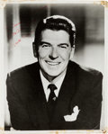 Movie/TV Memorabilia:Autographs and Signed Items, A Ronald Reagan Signed Black and White Photograph, Circa 1960s....