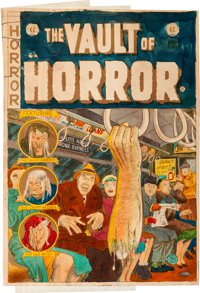 EC Vault of Horror #30 Cover Silverprint Proof (EC, 1953)