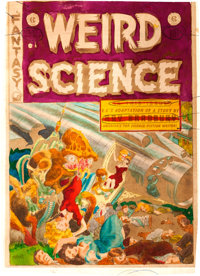 EC Weird Science #17 Cover Silverprint Proof (EC, 1953)