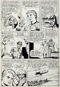"Original Comic Art:Panel Pages, Dick Ayers and Paul Reinman Strange Tales #127 Human Torchand The Thing Story ""The Mystery Villain!"" Page 4 Origi..."
