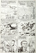 "Original Comic Art:Panel Pages, Jack Kirby and Chic Stone Fantastic Four #30 ""The Dreaded Diablo!"" Page 9 Original Art (Marvel, 1964)...."