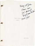 "Movie/TV Memorabilia:Autographs and Signed Items, A John Wayne Personally-Owned Script from ""Rio Lobo.""..."