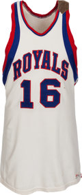 Basketball Collectibles:Uniforms, 1963-64 Jerry Lucas Game Worn Cincinnati Royals Rookie Jersey,MEARS A10....
