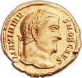 Ancients:Roman Imperial, Ancients: Maximinus II Daza, as Caesar (AD 305-308). AV aureus(21mm, 5.11 gm, 6h). ...