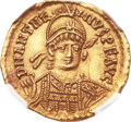 Ancients:Roman Imperial, Ancients: Anthemius (AD 467-472). AV solidus (21mm, 4.42 gm, 6h)....