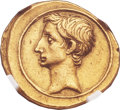 Ancients:Roman Republic, Ancients: Octavian, as sole Imperator (31-27 BC). AV aureus (22mm, 7.96 gm, 1h)....