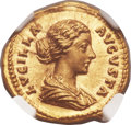 Ancients:Roman Imperial, Ancients: Lucilla, wife of Lucius Verus (Augusta, AD 164-182/3). AV aureus (20mm, 7.31 gm, 11h)....